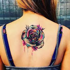 watercolor tattoo back 1