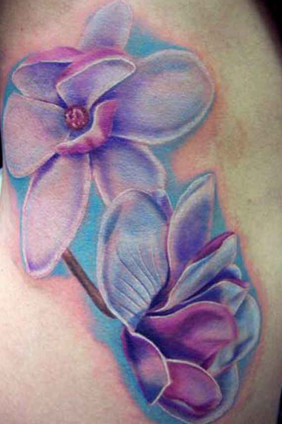 watercolor tattoo flower