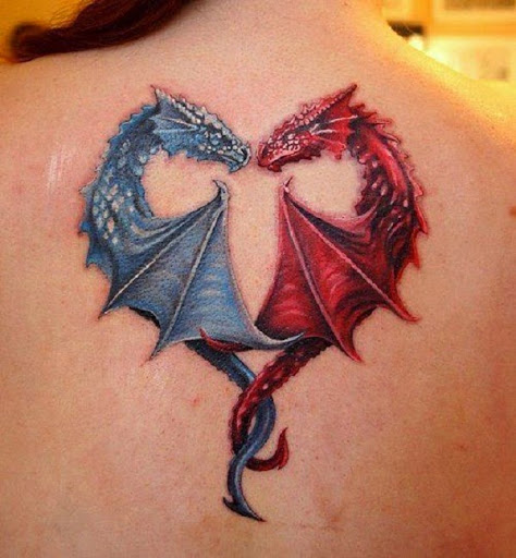 women dragon tattoo back 8