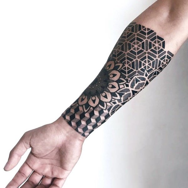 Geometric tattoo arm 1