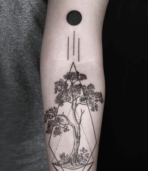 Geometric tattoo arm 3