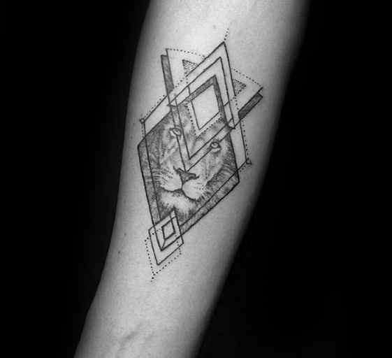 Geometric tattoo arm 4