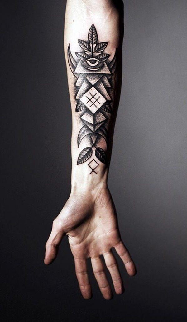 Geometric tattoo arm 8