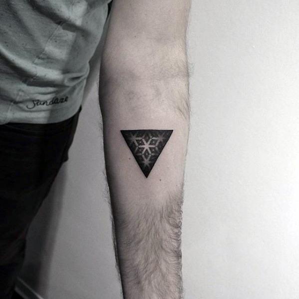 Geometric tattoo arm 9