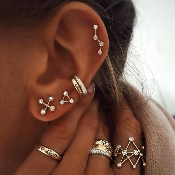 beautiful earrings for cartilage piercings