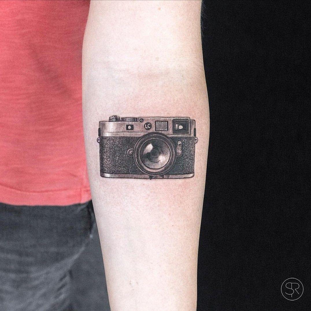 camera cool tattoo arm 2