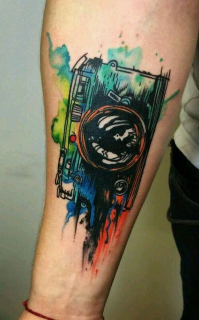 camera cool tattoo arm 3