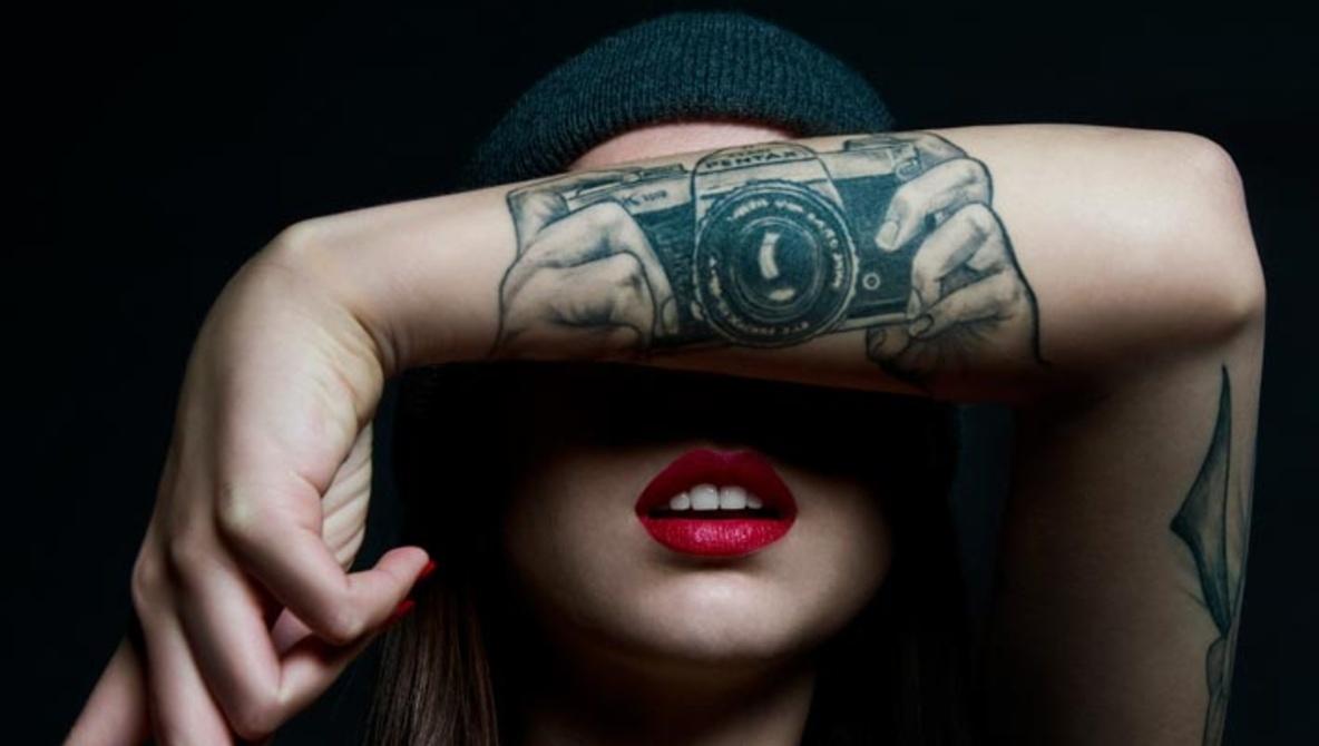 camera cool tattoo arm 5