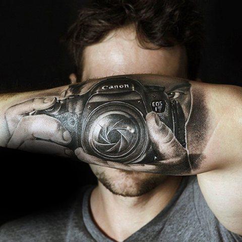 camera cool tattoo arm 6