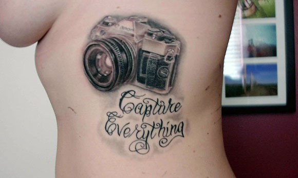 camera cool tattoo rib 1