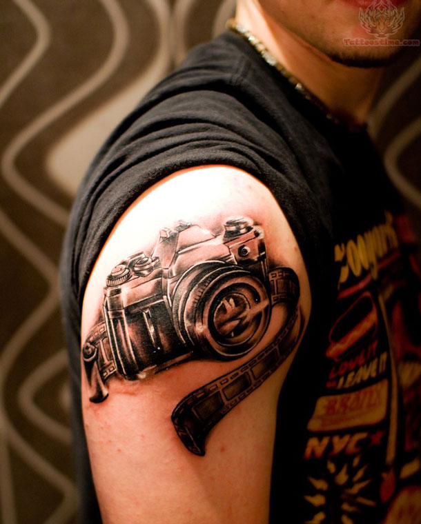 camera cool tattoo shoulder 1