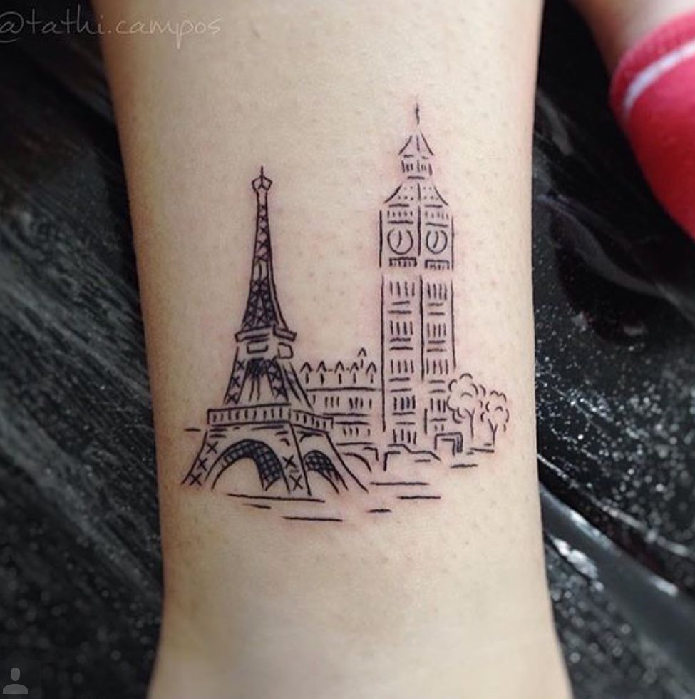 city cool tattoo ankle 1