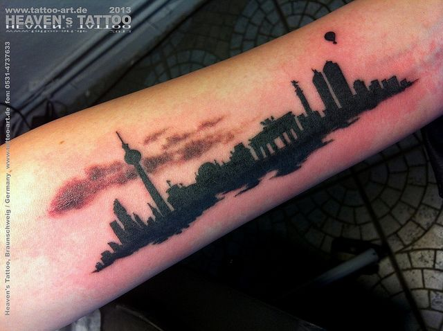 city cool tattoo arm 2
