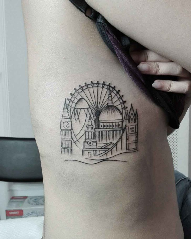 city cool tattoo rib 1