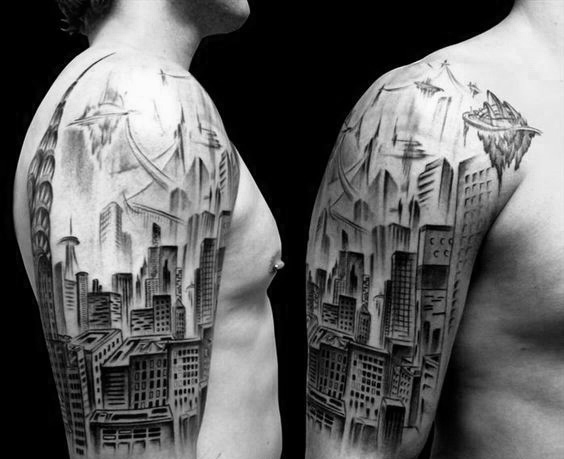 city cool tattoo sleeve 3
