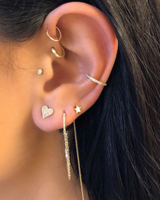 cute cartilage piercings