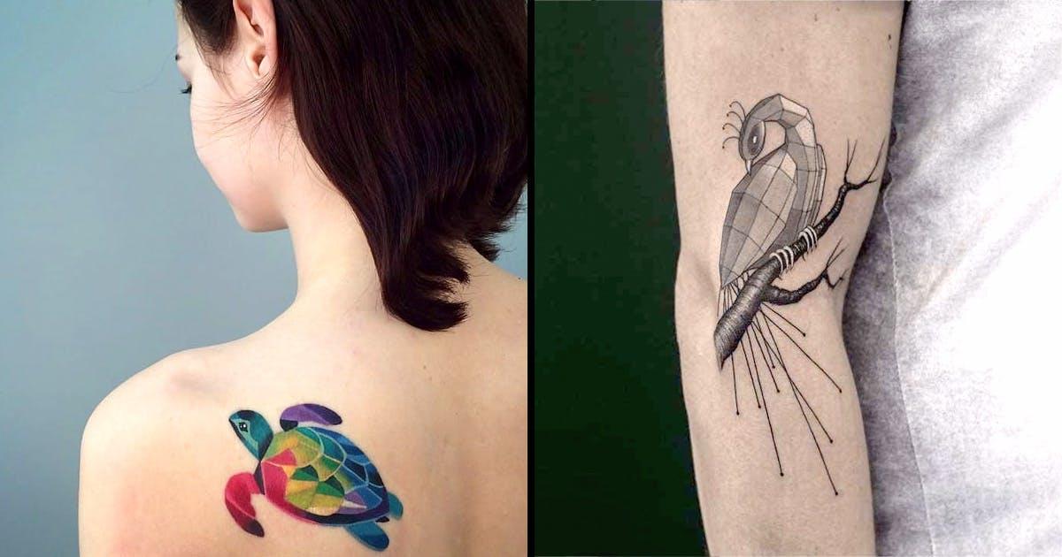 ea81541ac06fa 50+ Geometric Tattoo Ideas You Will Surely Adore - Tats 'n' Rings