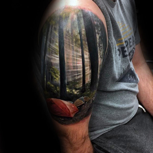 landscape cool tattoo sleeve 1