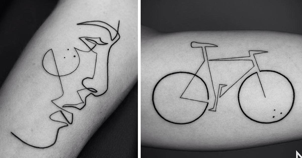 line geometric tattoo arm 2