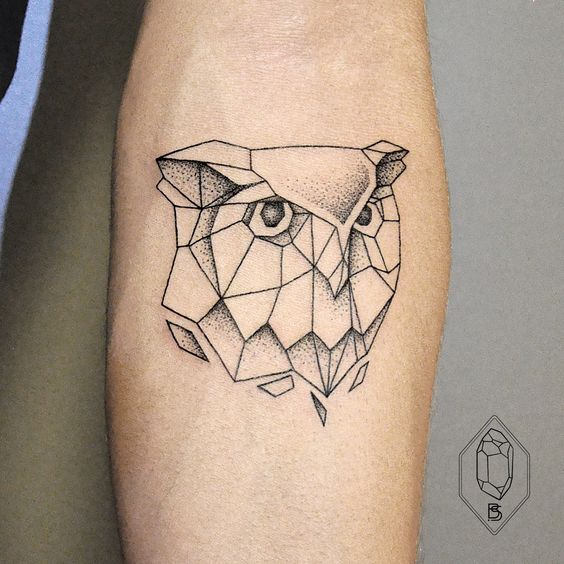 low poly geometric tattoo arm 1
