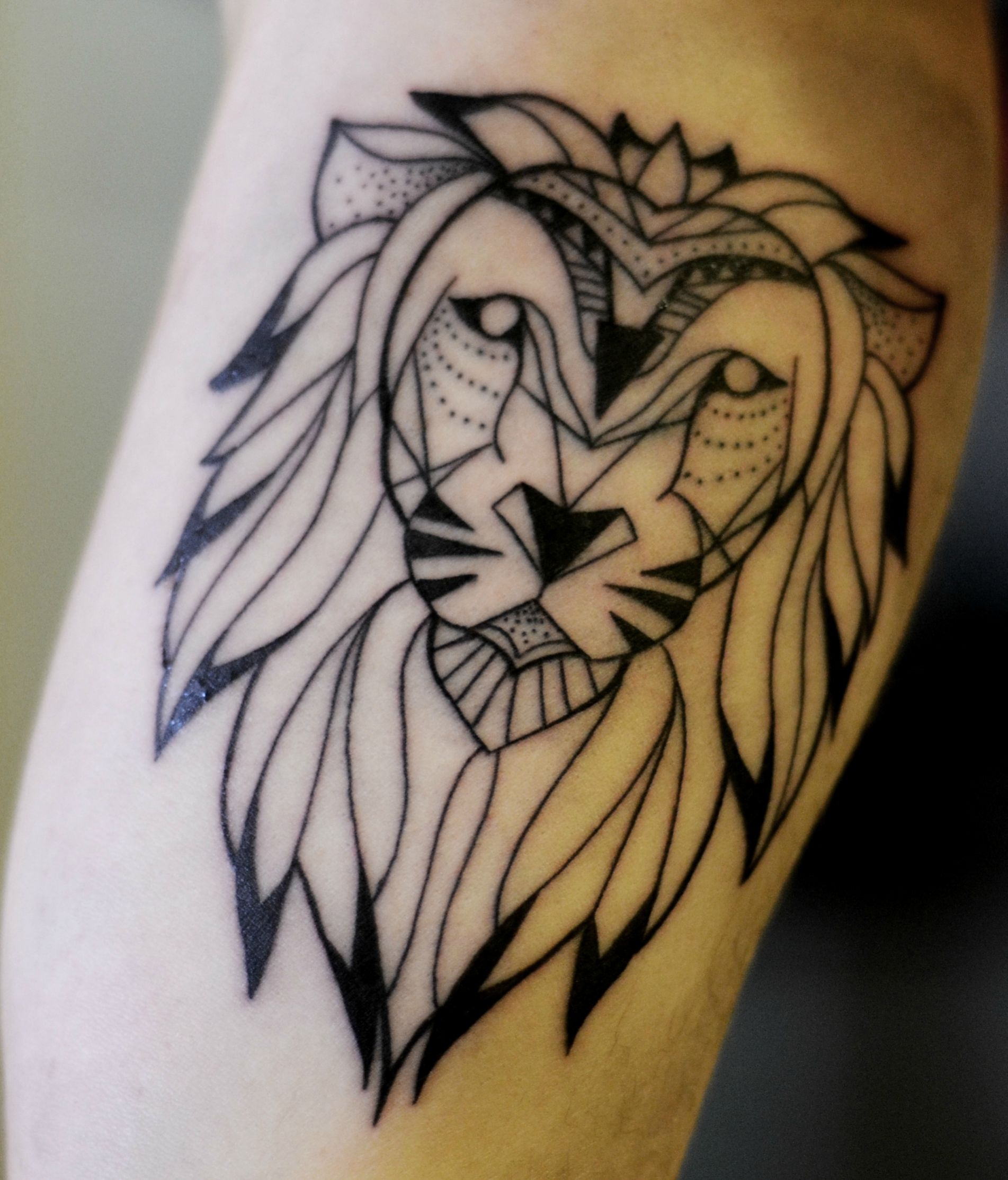 low poly geometric tattoo arm 3