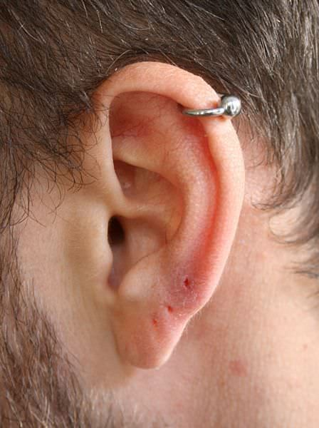 male helix piercing