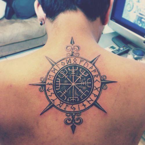 men compass tattoo arm 4