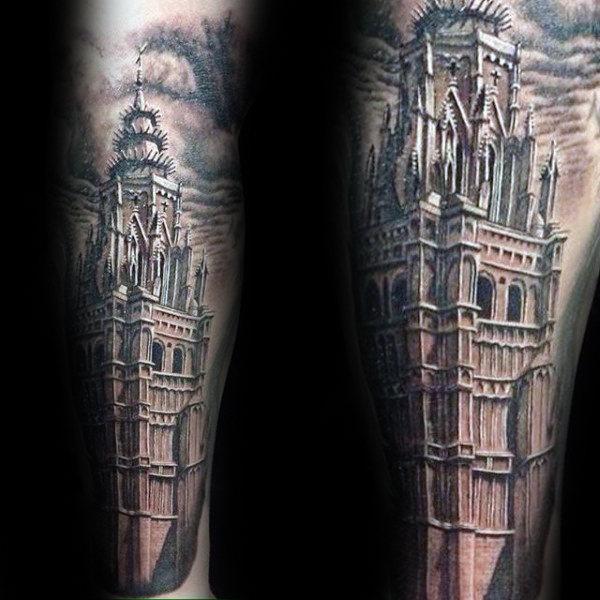 men cool tattoo leg 1