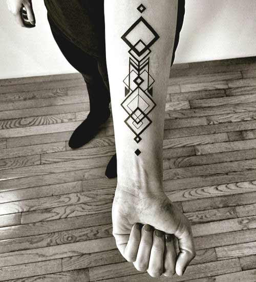 men geometric tattoo arm 3
