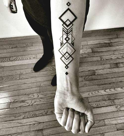 men geometric tattoo arm 3