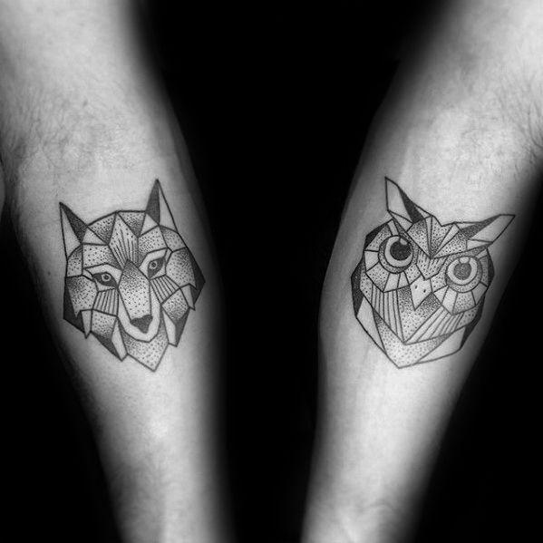 men geometric tattoo arm 4