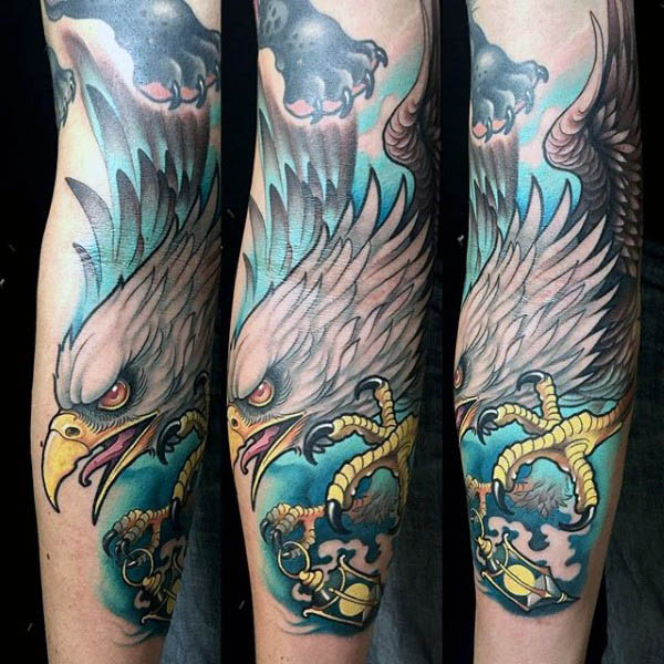 neotraditiona tattoo arm 2