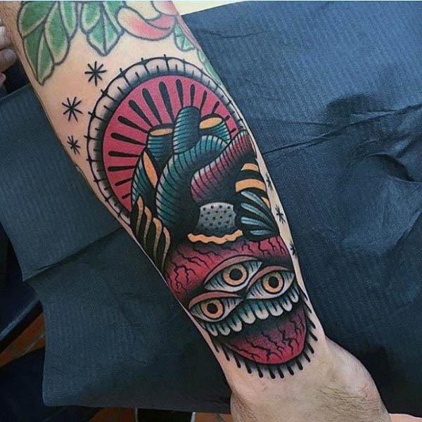 neotraditiona tattoo arm 3