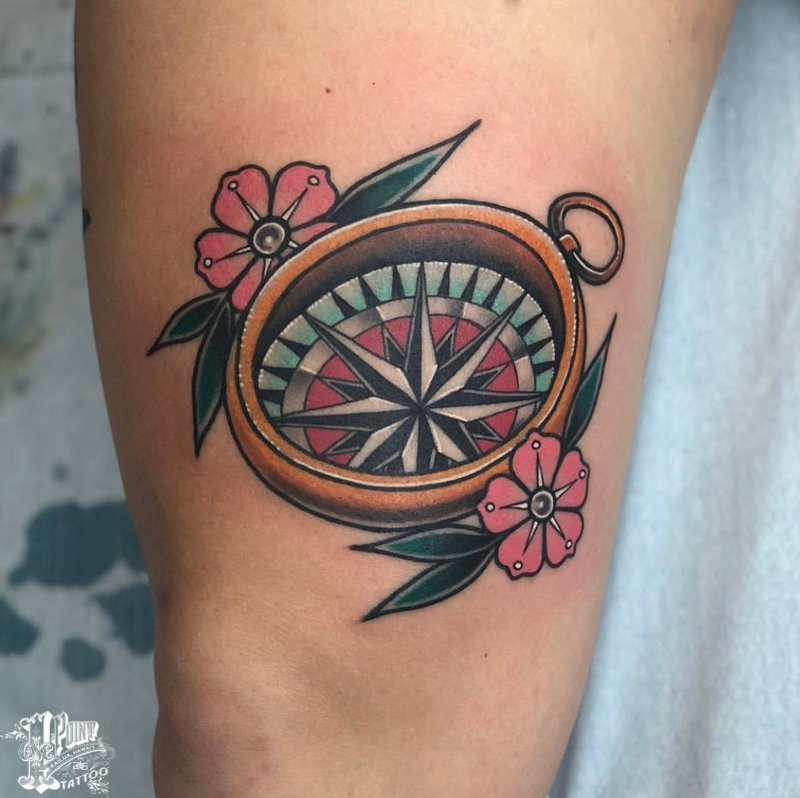 50+ Compass Tattoo Designs That Evoke Your Adventurous ...