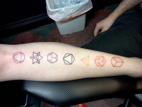 simple geometric tattoo arm 1