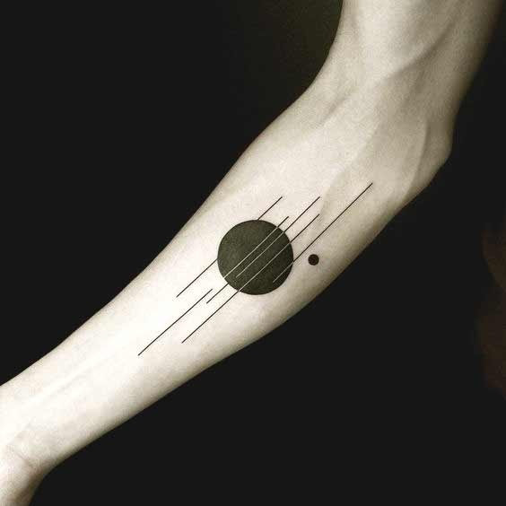simple geometric tattoo arm 3