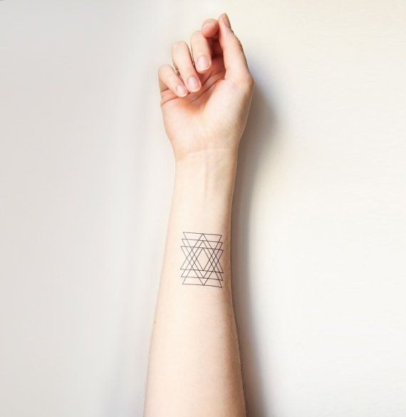 simple geometric tattoo wrist 2