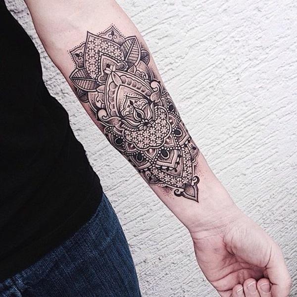 women geometric tattoo arm 1