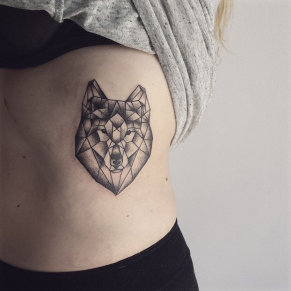 women geometric tattoo side 1