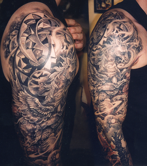 Amazing Full sleeve Mandala Tattoo