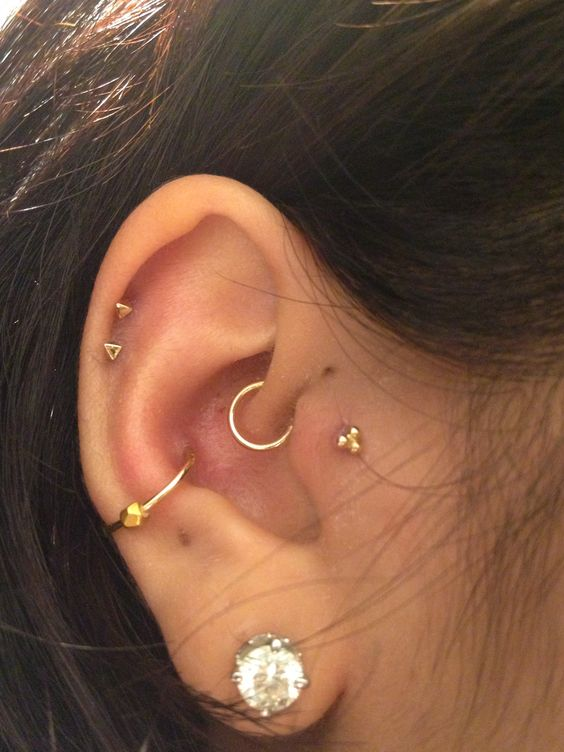 a couple of piercings plus conch