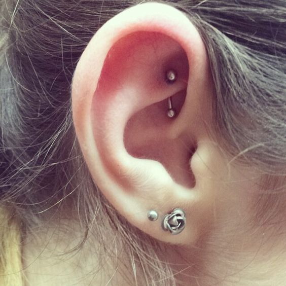 barbell earring for rook piercing