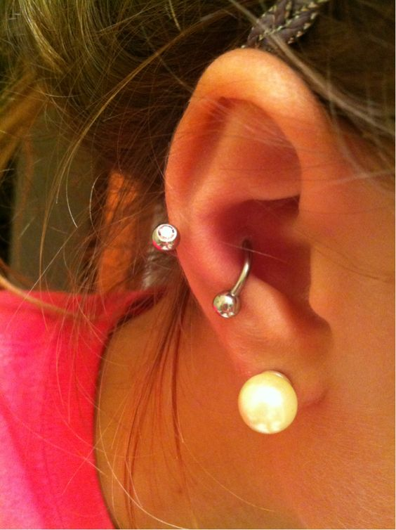 barbell for inner conch piercing