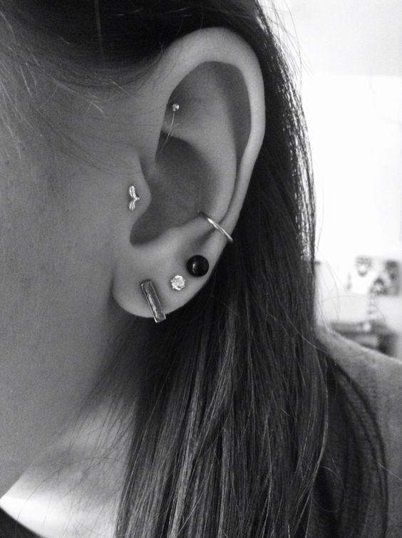 beautiful and simple conch piercing
