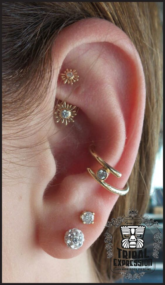 cute earrings for rook piercing
