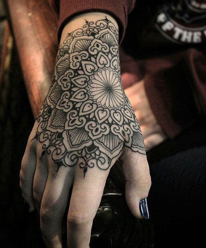 Alluring wrist mandala Tattoo