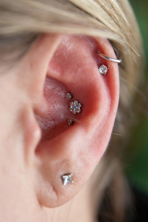 flower inner conch piercing