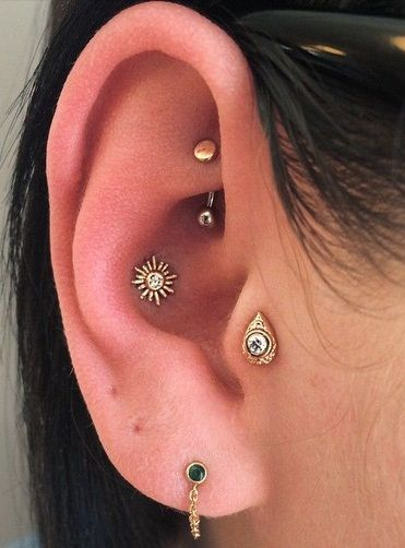 sun jewelry inner conch piercing