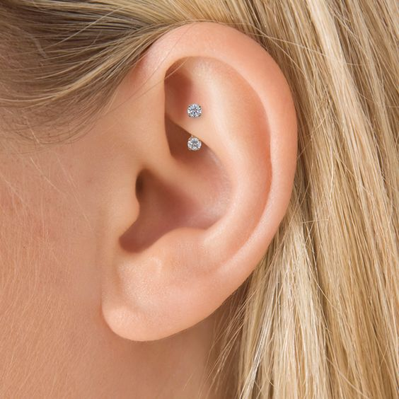 very simple rook piercing