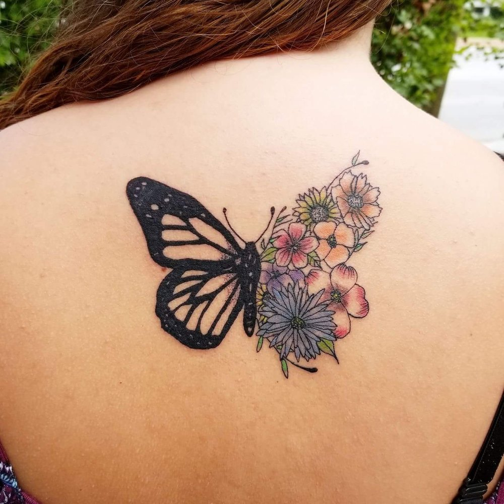 Butterfly Tattoo Back 4